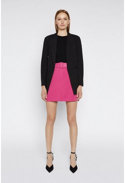 Bright pink Belted Pelmet Skirts