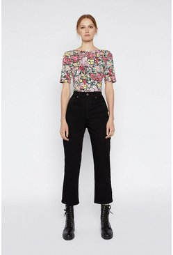 Multi Crowded Floral Top