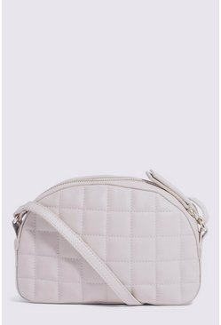 Cream Leather Quilted Bag