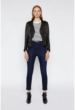 Mid wash High Waisted Skinny Jeans