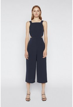 Navy Cutout Jumpsuit