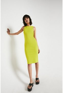 Lime Rib Racer Bodycon Dress