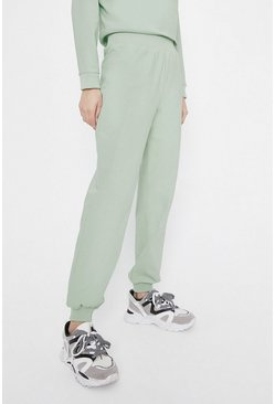 Light green Neoprene Effect Joggers