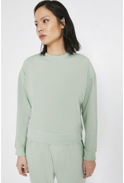 Light green Neoprene Effect Sweat