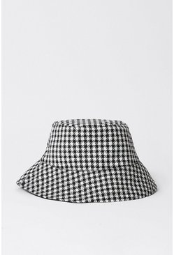 Blackwhite Checked Bucket Hat