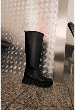 Black Tall Chunky Boot