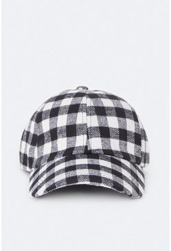 Blackwhite Checked Cap