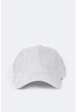 Grey Ribbed Cap