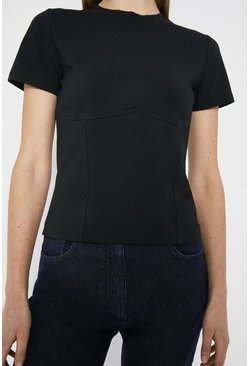 Black Corset Detail T-Shirt