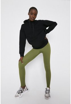 Khaki Rib Leggings