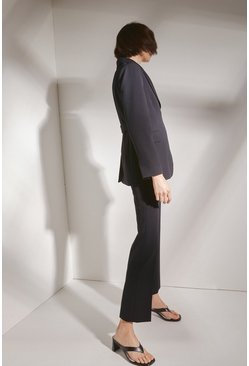 Black Vent Back Trousers