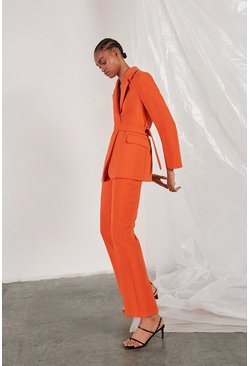 Orange Vent Back Trousers