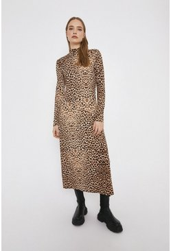 Printed Animal Cosy Midi Dress