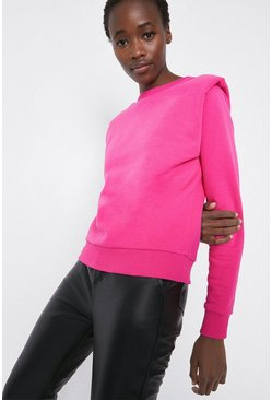 Pink Lip Shoulder Sweatshirt