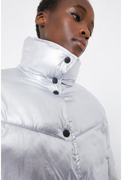 Silver Arrow Quilted Popper Front Padded Jacket
