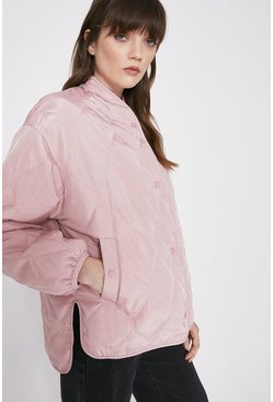 Lilac Nylon Quilted Liner Jacket