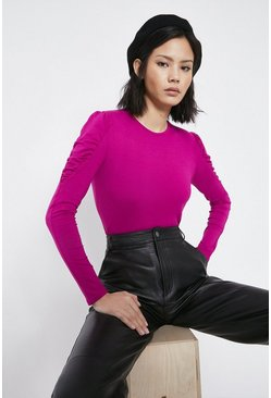 Hot pink Puff Sleeve Top