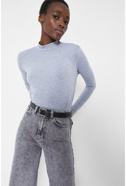 Grey Lip Shoulder Long Sleeve Body