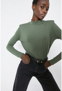 Khaki Lip Shoulder Long Sleeve Body