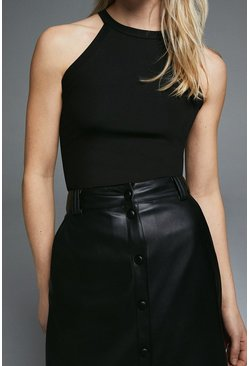 Black Racer Halter Top