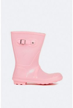 Pink Short Wellington Boot