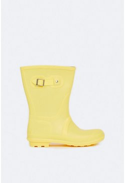 Yellow Short Wellington Boot