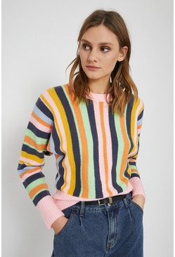 Multi Cosy Stripe Boyfriend Jumper
