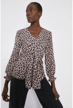 Mono Tie Waist V Neck Top