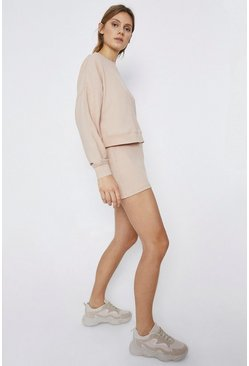 Blush Cosy Rib Shorts