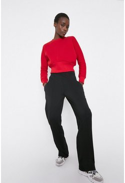 Red Rib Hem Sweat