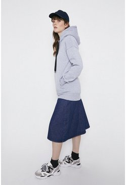 Grey Relaxed Concealed Pocket Hoody