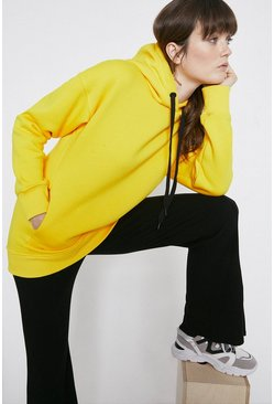 Yellow Relaxed Concealed Pocket Hoody