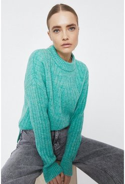 Sage Wide Rib Jumper