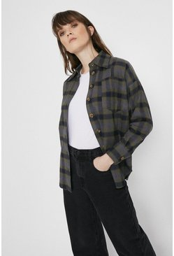 Khaki Check Overshirt