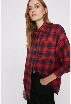 Red Check Overshirt