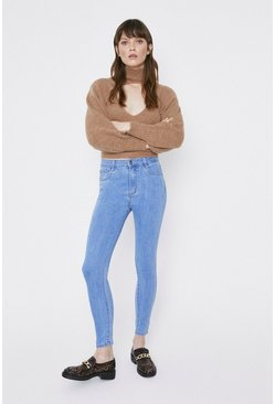 Light wash Highwaist Blue Skinny Jeans