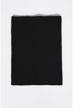 Black Recycled Polyester Snood