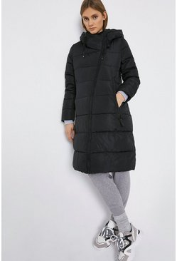Black Long Line Padded Coat