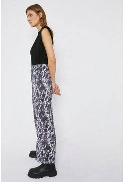 Multi Tie Dye Wide Leg Trouser