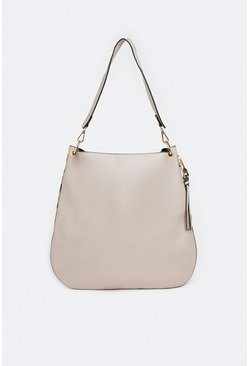 Nude Slouchy Seam Detail Bag