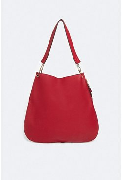 Red Slouchy Seam Detail Bag