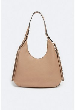 Taupe Slouchy Pocket Detail Bag