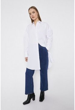 White Puff Sleeve Long Sleeve Shirt