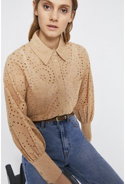 Stone Broderie Shirt