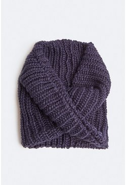 Navy Chunky Knitted Snood