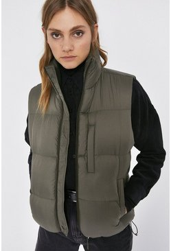 Olive Sleeveless Padded Body Warmer