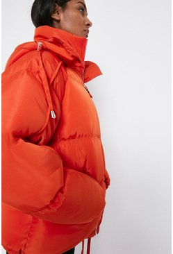 Orange Piping Detail Padded Jacket