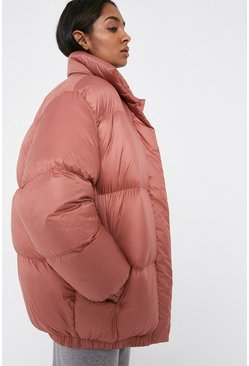Rose Funnel Neck Padded Jacket