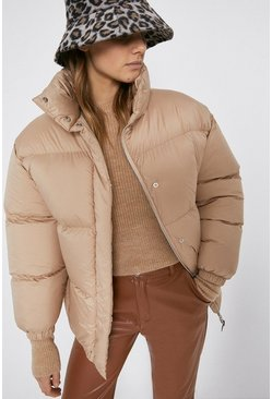 Stone Funnel Neck Padded Jacket
