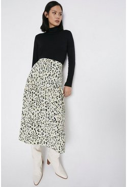 Chartreuse Animal Print Skirt